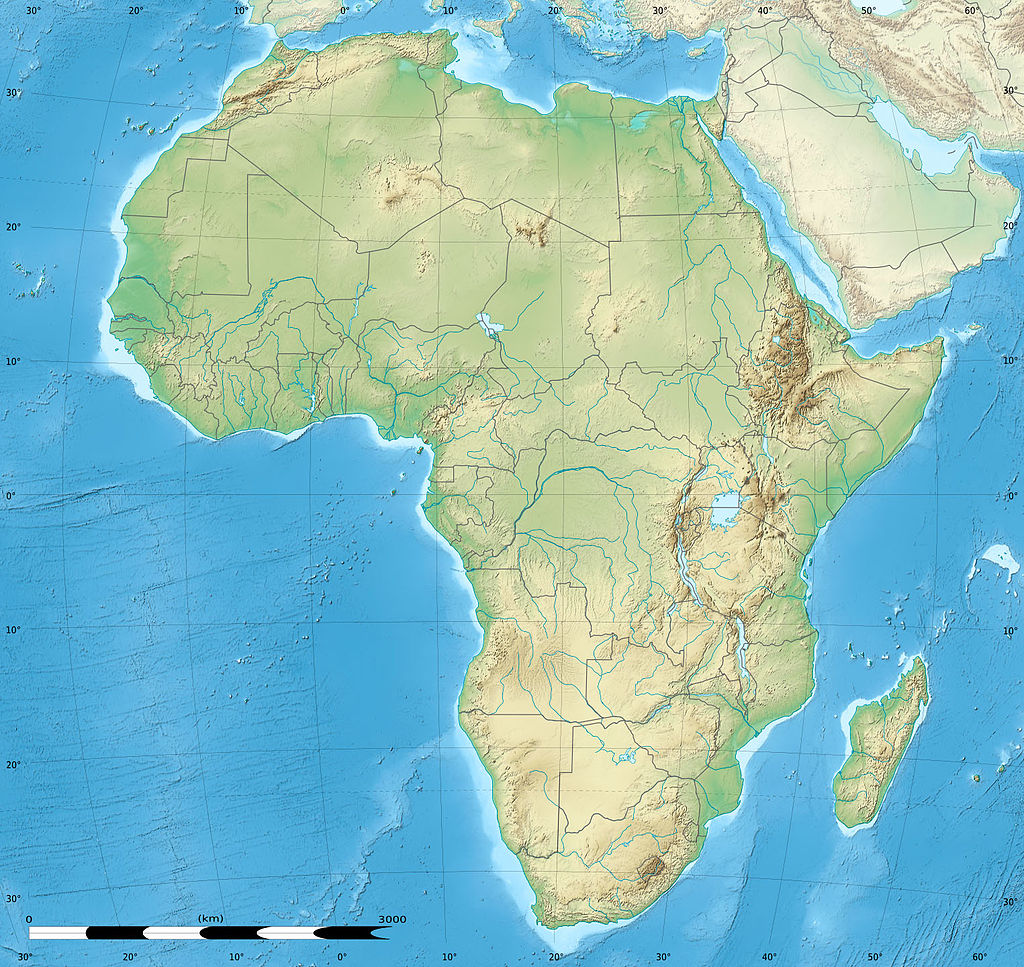 Blank Physical Map Of Africa New Calendar Template Site 1024x967