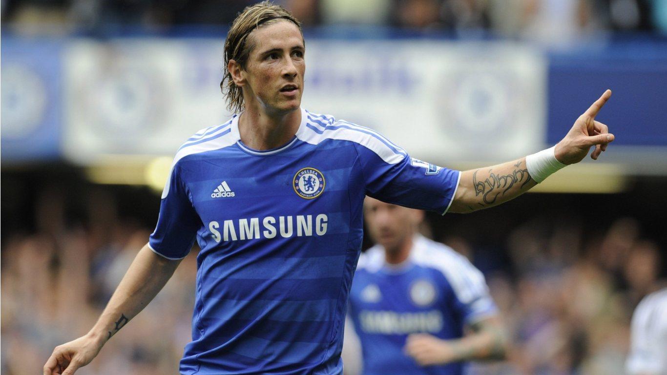 top footballer wallpaper Fernando Torres Chelsea Wallpapers 1366x768