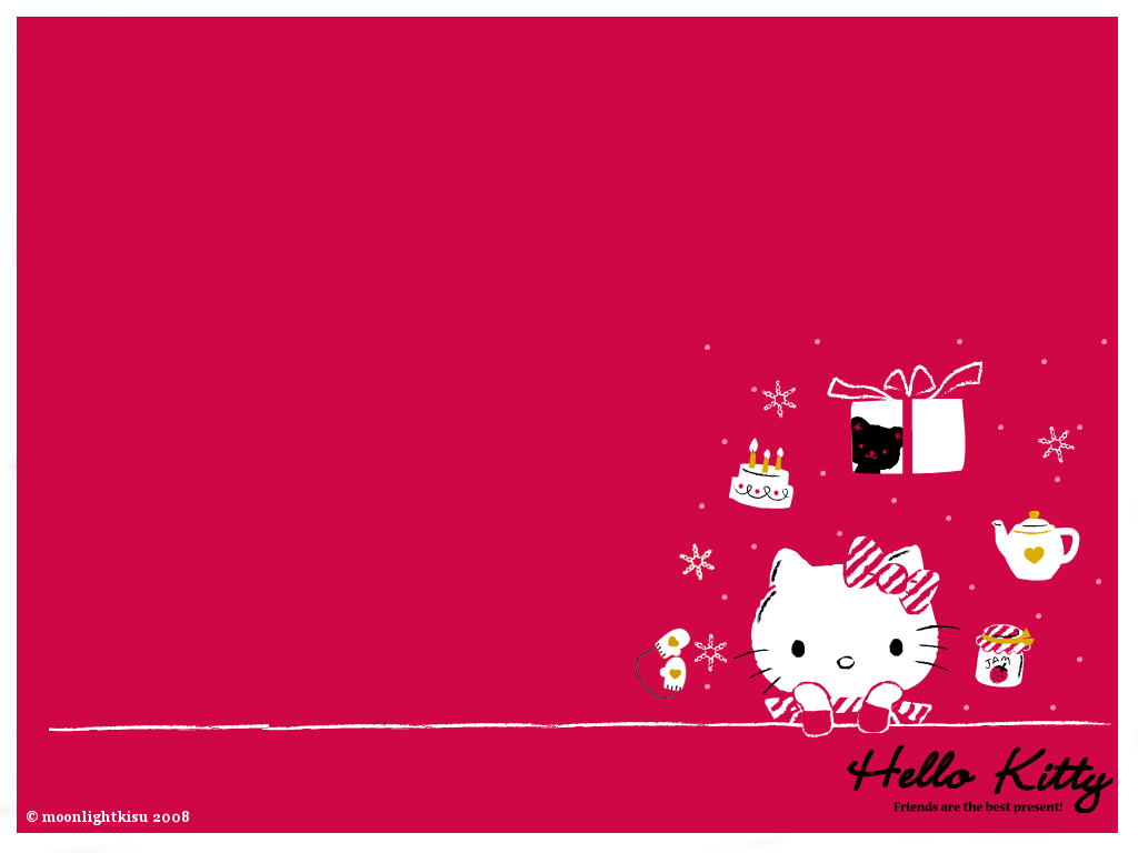 hello kitty winter wallpaper by moonlightkisu 1024x768