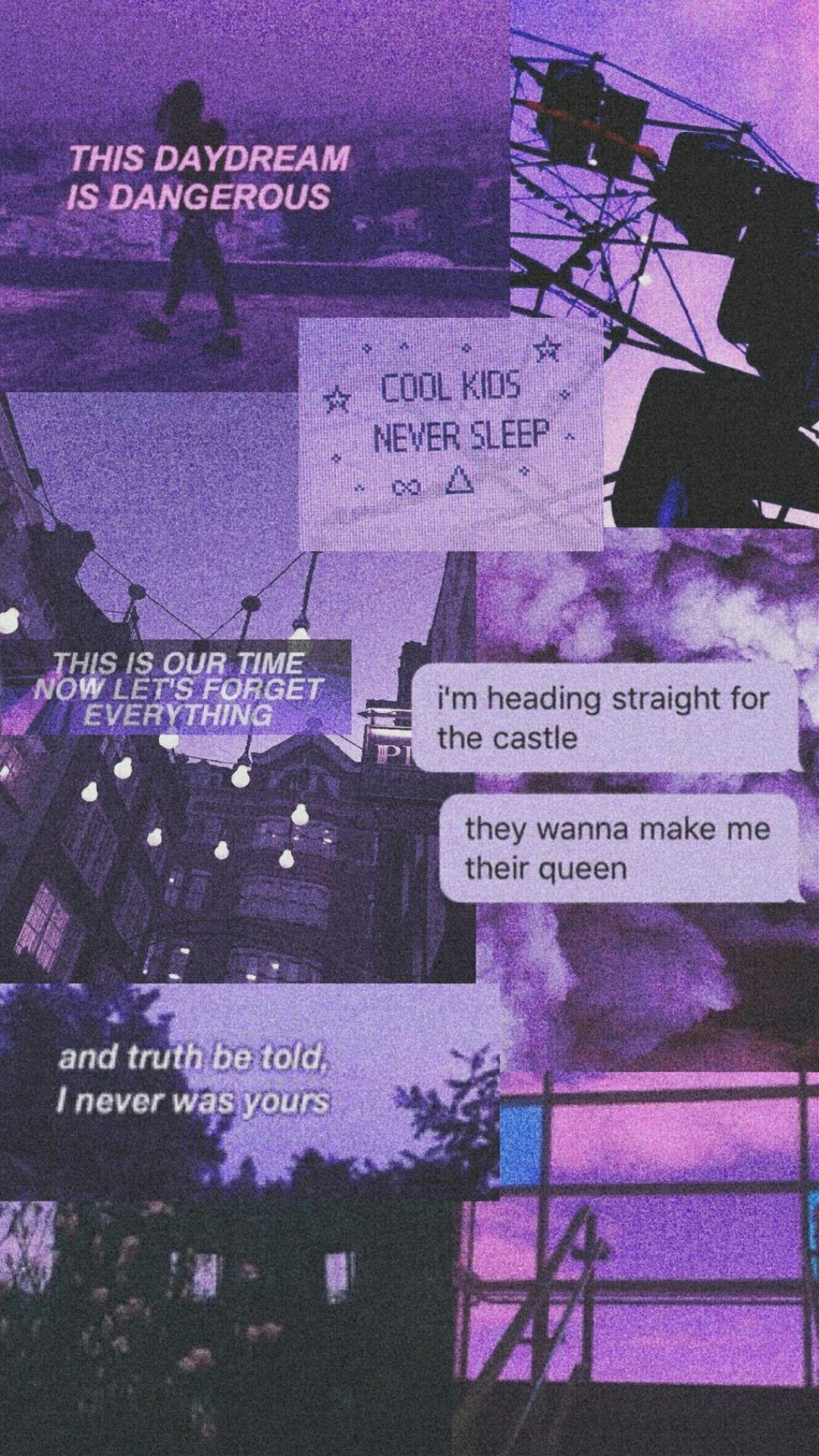 aesthetic aestheticpurple purple tumblr wallpaper   Aesthetic 1080x1920