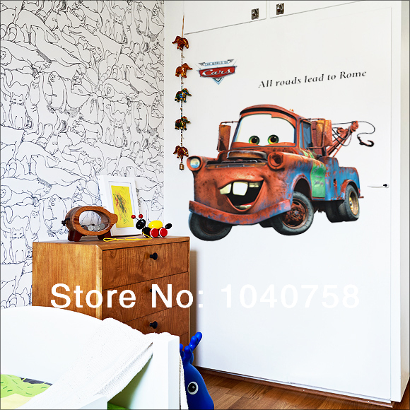 Cartoon Wall Stickers for Kids Rooms Lego Movie Cars Sticker on a Wall 580x580
