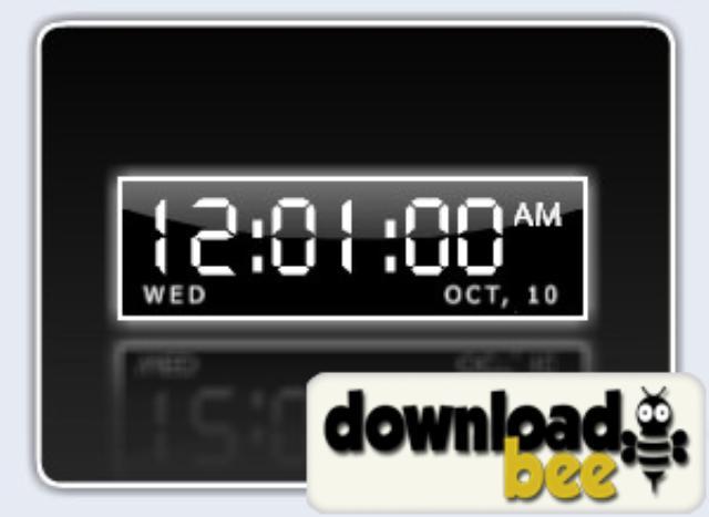 Download Digital Desktop Clock software Digital Desktop Clock 640x467