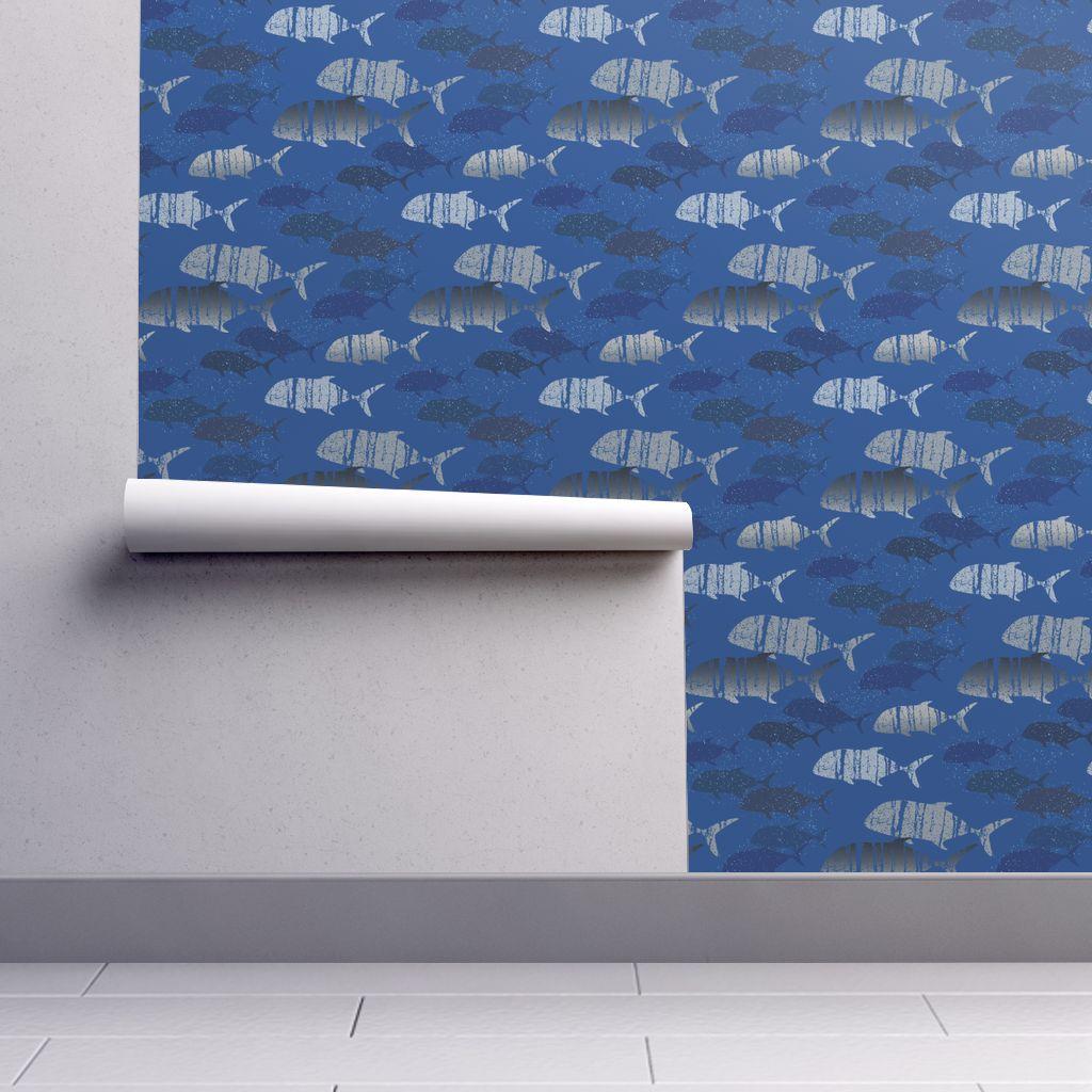 just jacks trevally ulua wallpaper   kolekine   Spoonflower 1024x1024