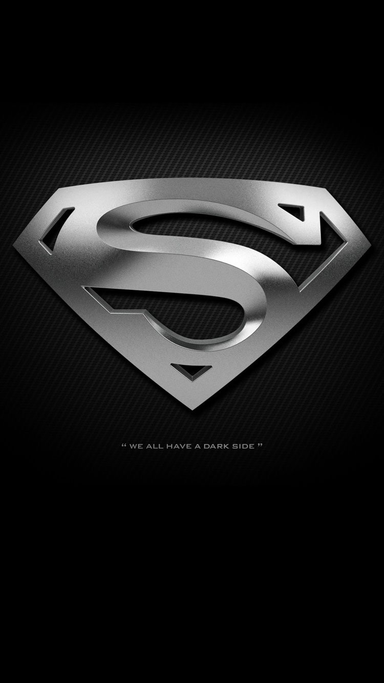 Solid Black Wallpaper Iphone 6 Superman Iphone 6 Wallpaper 750x1334