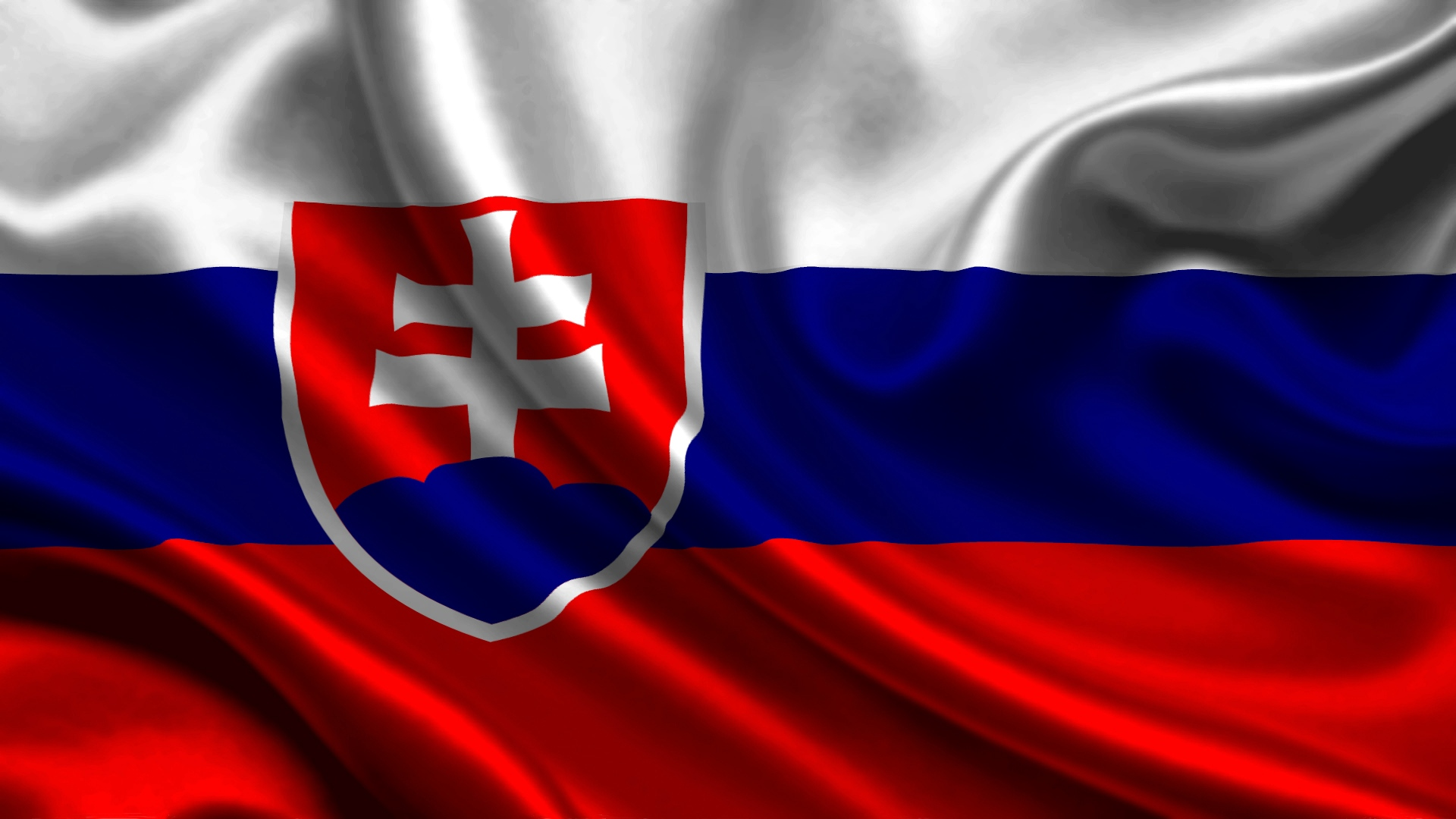 Slovakia Satin Flag   Stock Photos Images HD Wallpaper HD 1920x1080