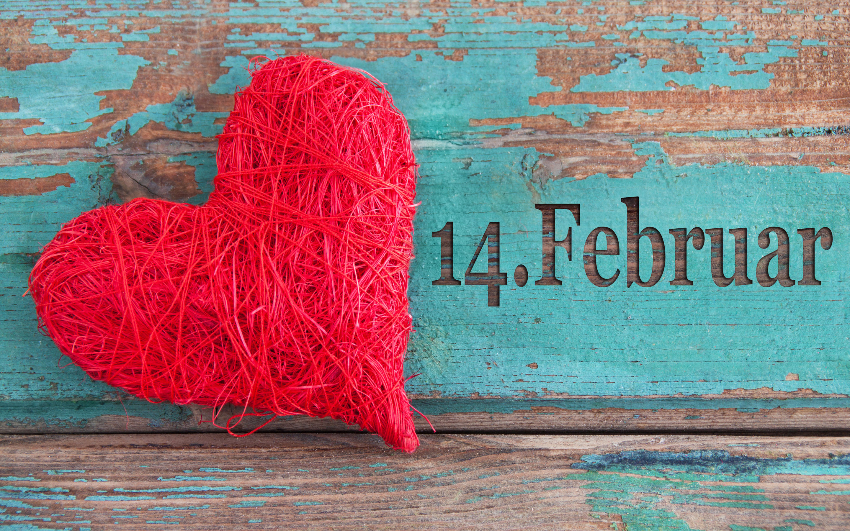 February 14 Valentines Day Heart HD Wallpaper 2880x1800