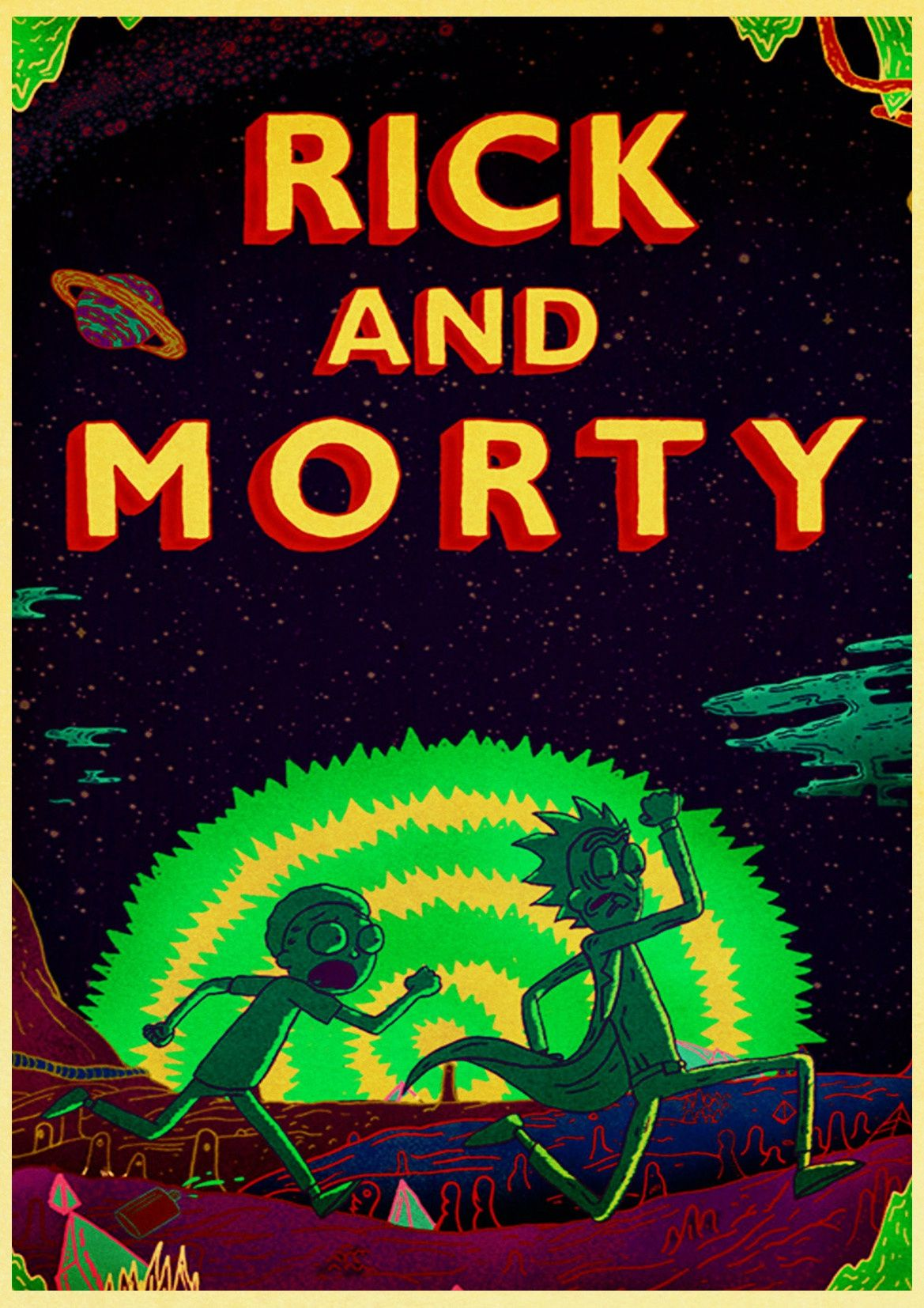 New 2020 Rick And Morty Retro Poster in 2020 Rick morty poster 1169x1654