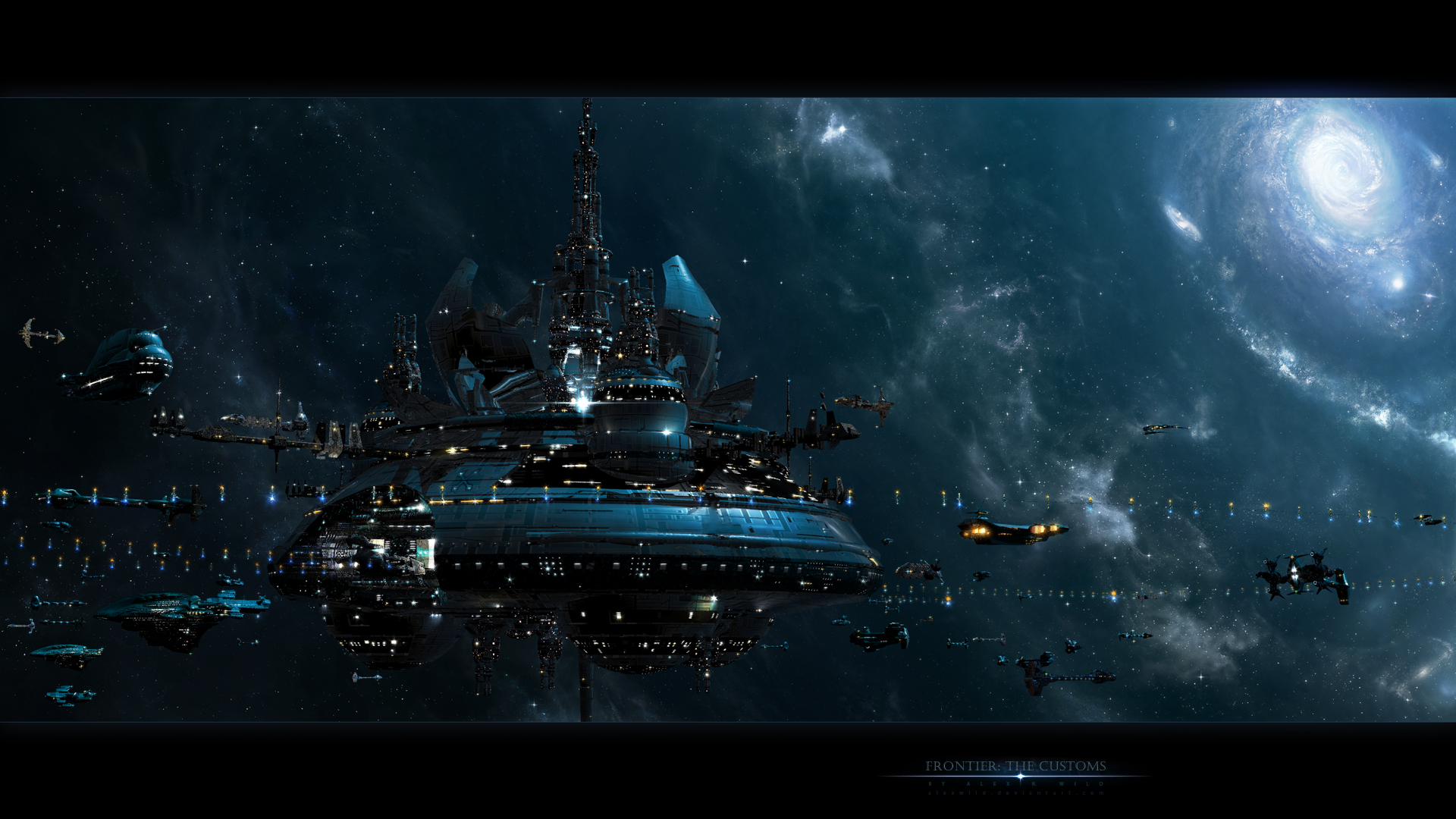 alexwild deviantart com sci fi futuristic space spaceships spacecrafts 1920x1080
