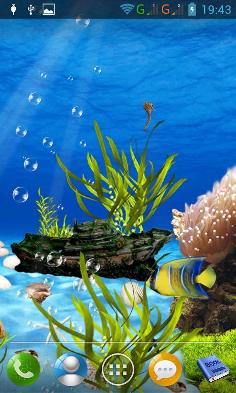 Aquarium live for Android   download and software reviews   CNET 480x800