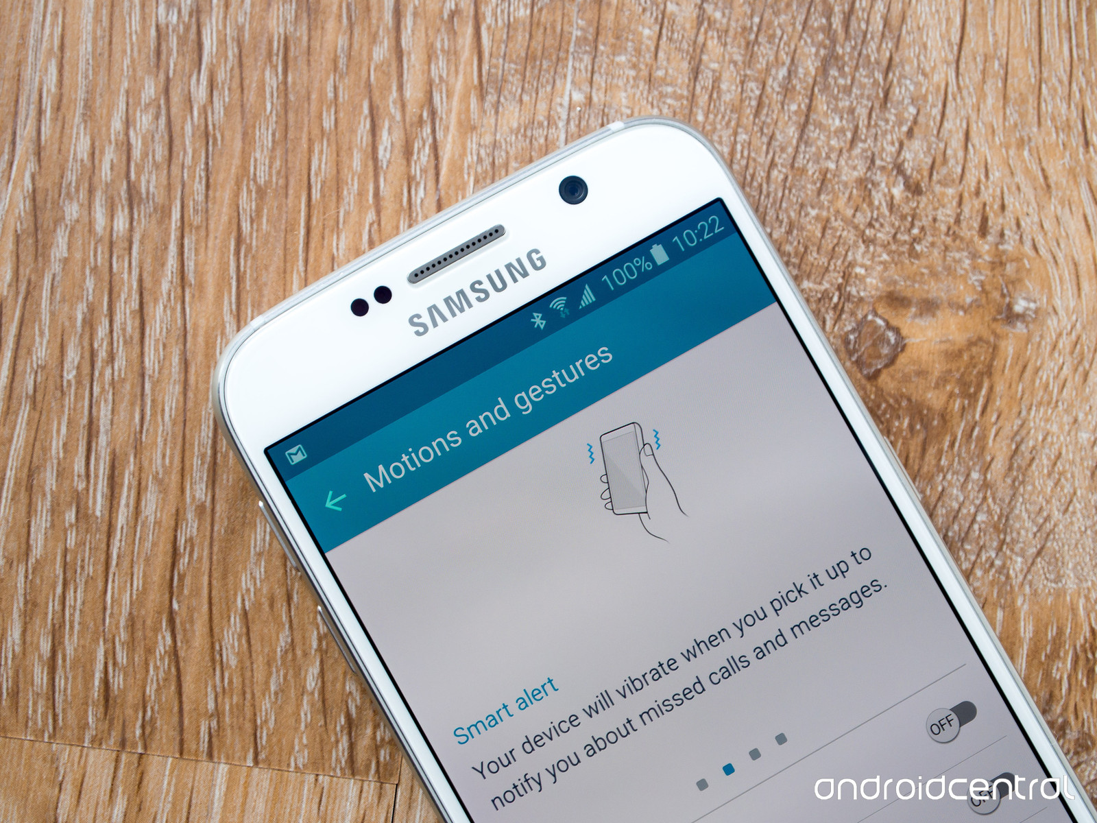 Motion and gesture options on the Galaxy S6 Android Central 1600x1200