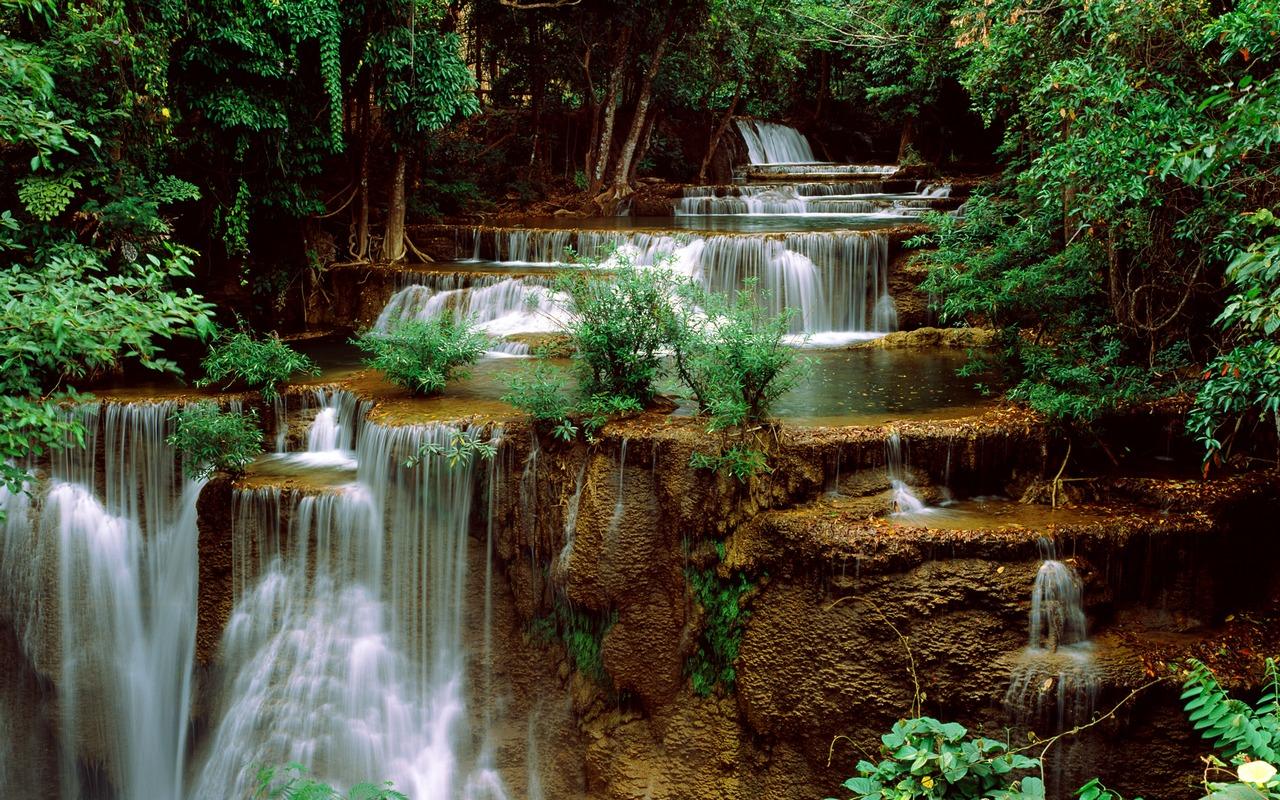Waterfalls Windows 7 Theme   Wasserflle in faszinierenden Motiven 1280x800
