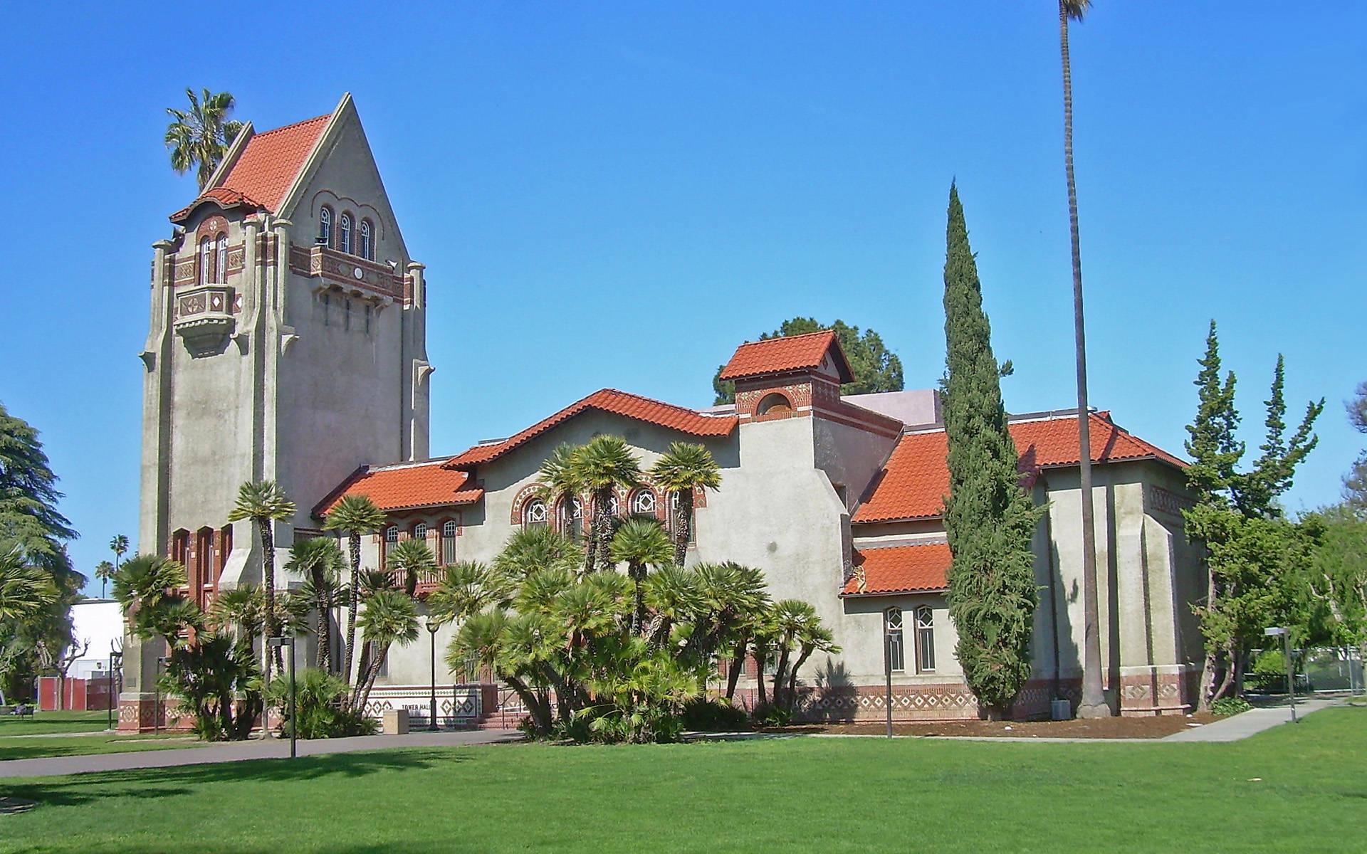 SJSU tower hall at city of San Jose California USA city wallpaper 1920x1200