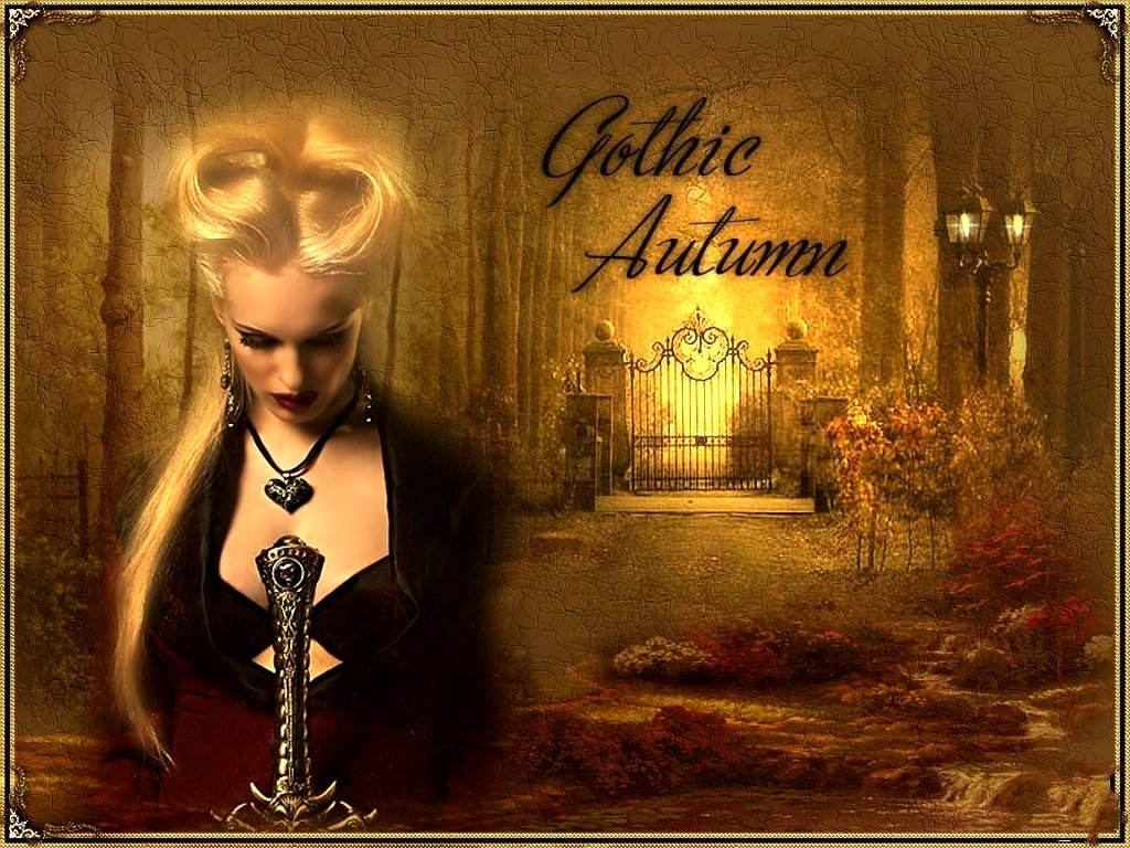 The GOTHIC AUTUMN Wallpaper   Download Screensavers 1024x768