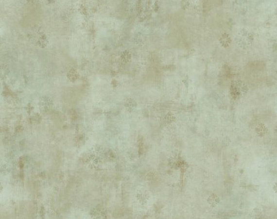 Soft Sage and Gold layered Faux Distressed Plaster Wallpaper   Aged 570x451