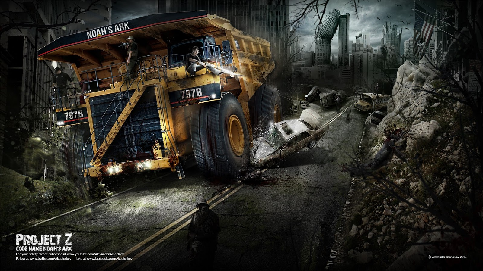 Project Z   The Zombie Apocalypse Desktop Wallpapers and Backgrounds 1600x900