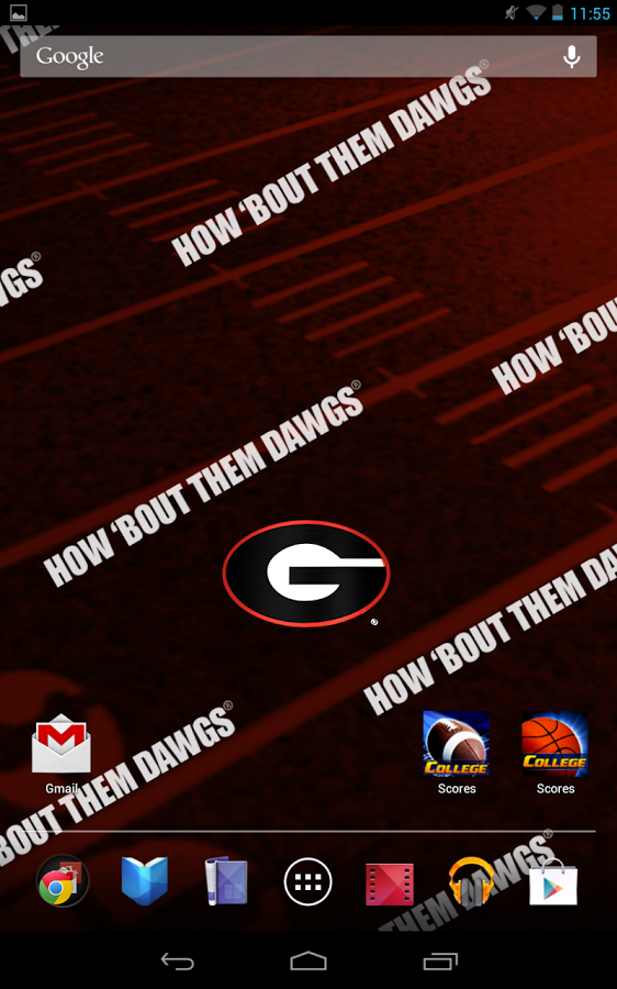 georgia bulldogs live wallpaper with animated 3d logo background 562x900