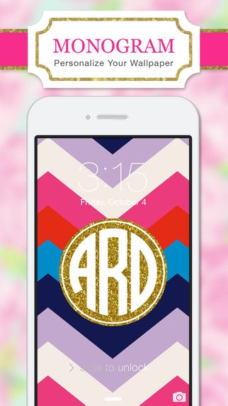Monogram Lite   Wallpaper Backgrounds Maker HD with Glitter themes 322x572
