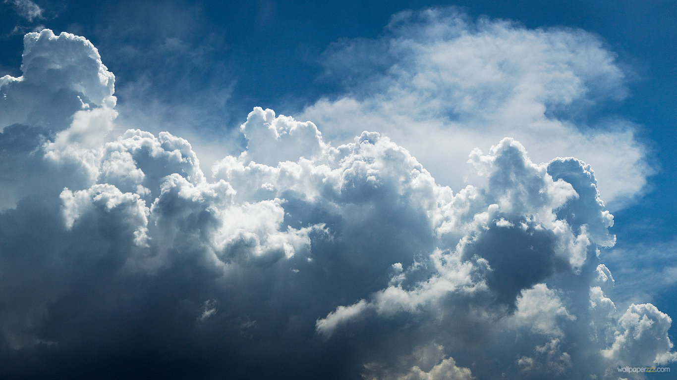Download Big Clouds HD Wallpaper Wallpaper 1366x768
