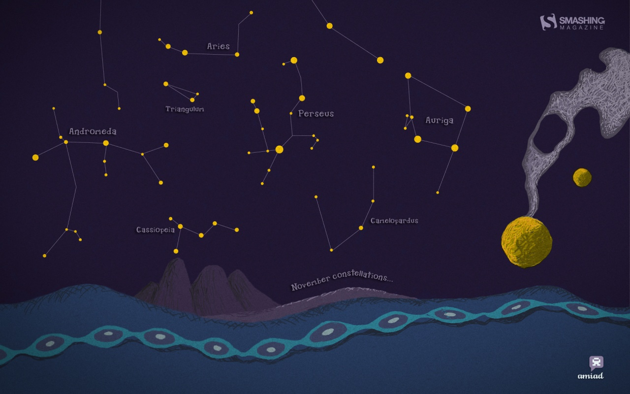 Constellations Desktop and mobile wallpaper Wallippo 1280x800