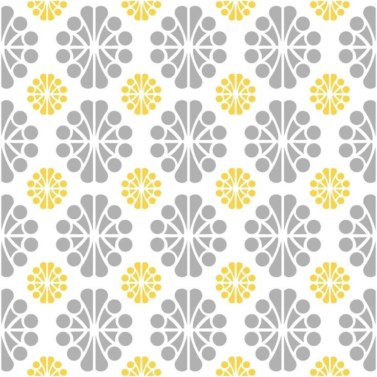 Yellow and Gray Wallpa...