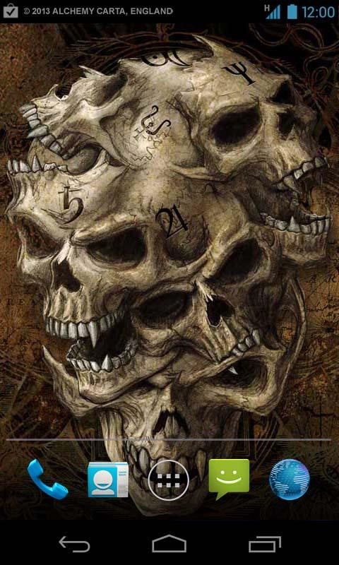 Alchemy Skulls Live Wallpaper Android Apps und Tests AndroidPIT 480x800