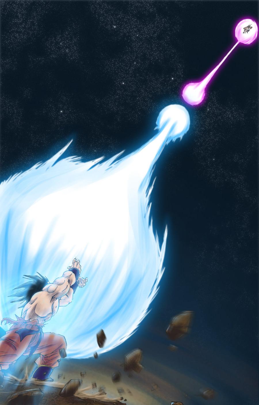 Goku Kamehameha Vs Vegeta Galick Gun Kamehameha vs galick gun 900x1405