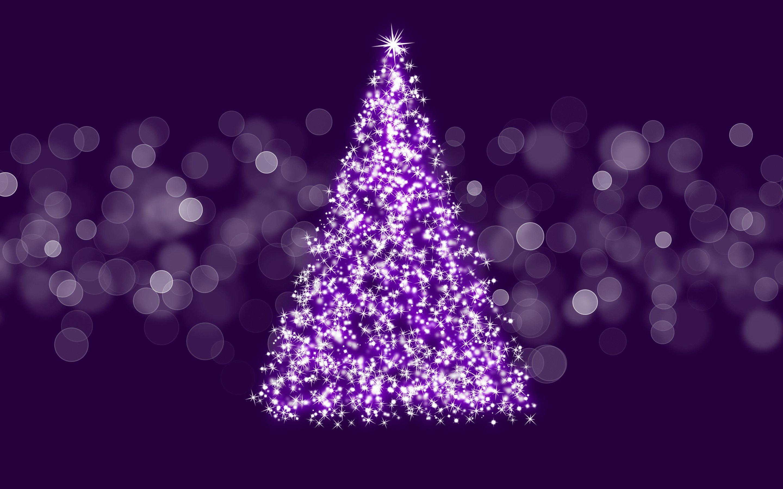 purple christmas tree html code