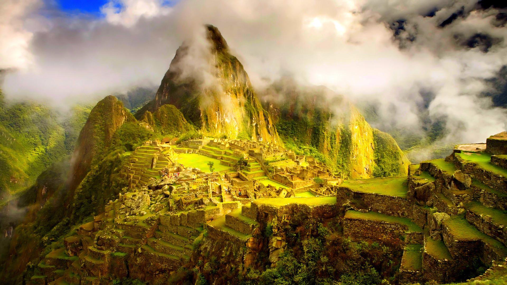 Clouds Rolling Over Machu Picchu Hd Wallpaper Wallpaper List 1920x1080