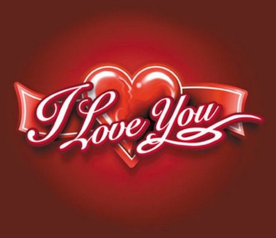 Love You Heart Wallpaper Download HD Wallpapers 891x768