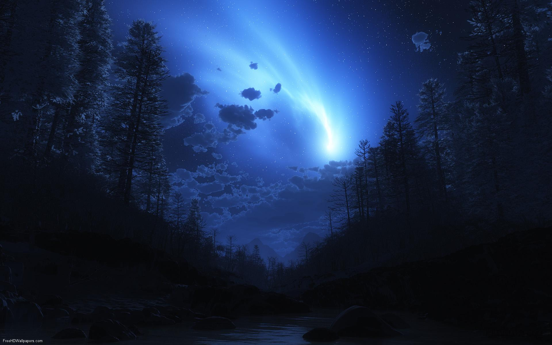 Blue Night Sky Unique HD Wallpapers 1920x1200