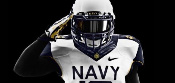 Navy Midshipmen Wallpaper 2012 navy football uniforms 580x275