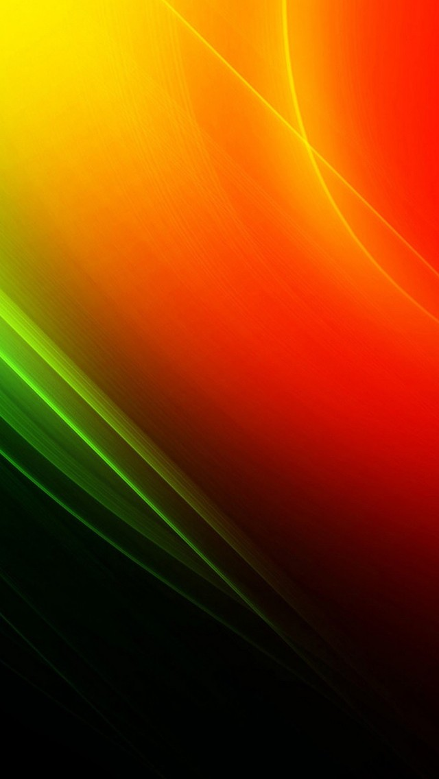 Orange and green glowing lines Mobile Wallpaper 4665 640x1136