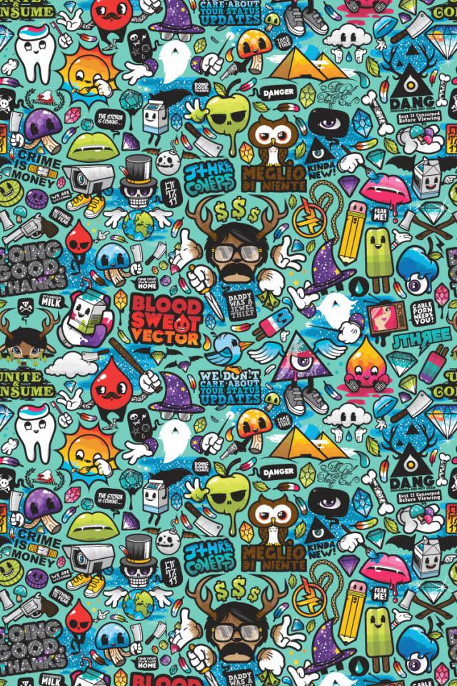 Funky Pattern iPhone Wallpaper HD 640x960