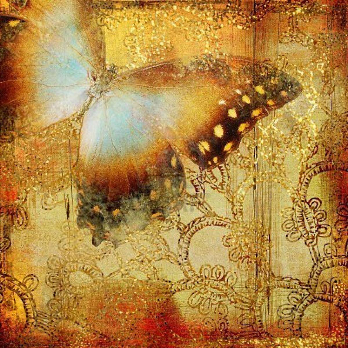 Finest Design Butterfly Vintage Wallpaper   Decoseecom 1200x1200