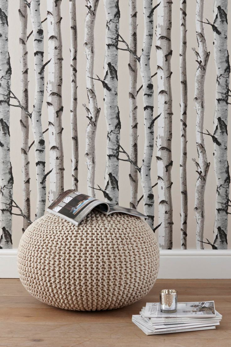 Birch trees wallpaper Birch Love Pinterest 736x1104