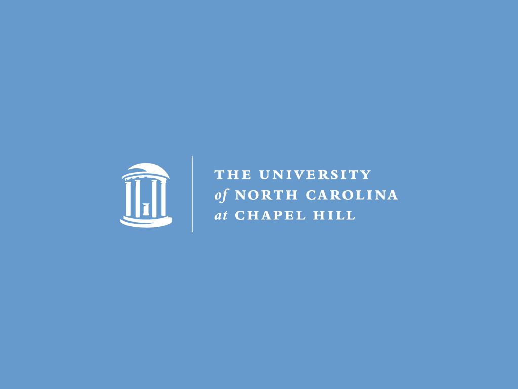UNC at Chapel Hill Universitey blue logo wallpaper for desktops 1024x768