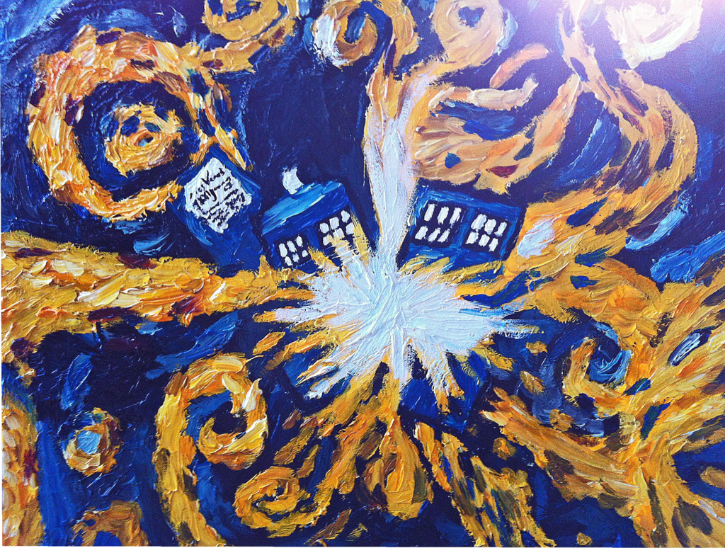 Doctor Who Tardis Wallpaper Van Gogh Images Pictures   Becuo 1024x774
