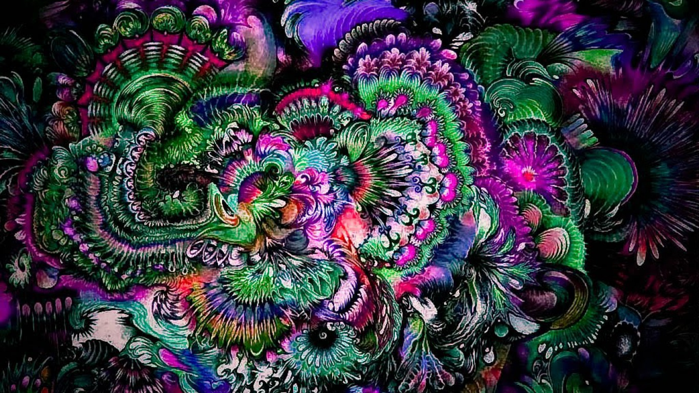 10 Best Psychedelic and Trippy BackgroundsWallpapers for Desktop 1366x768
