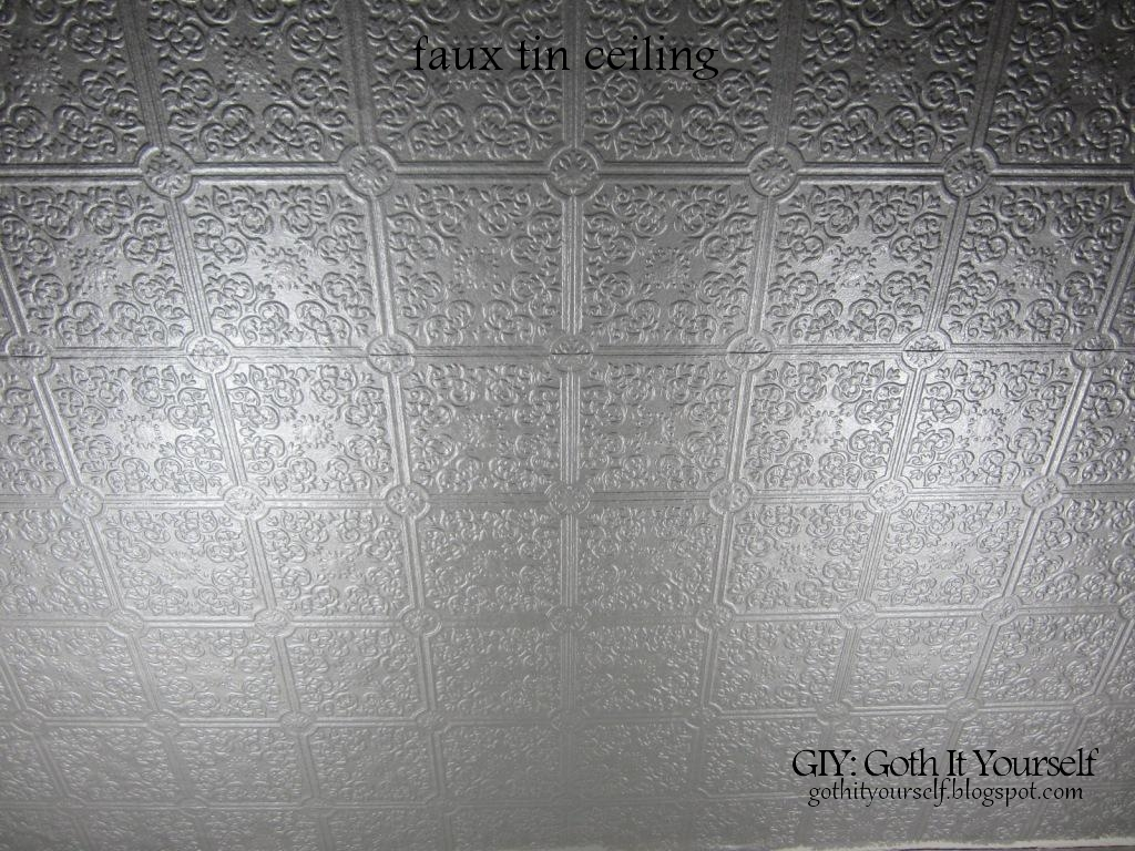 48 Faux Tin Ceiling Wallpaper On