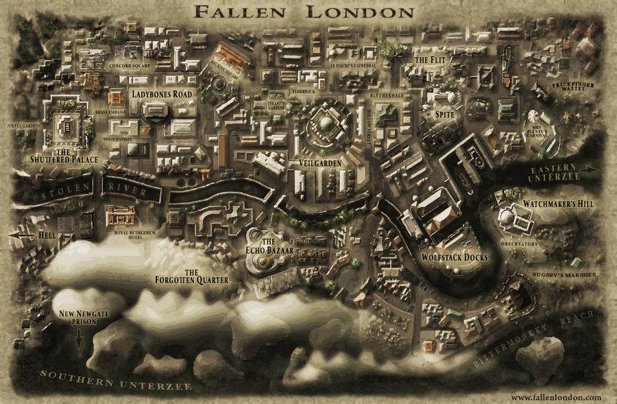 Map of Fallen London by misterarendt 900x589