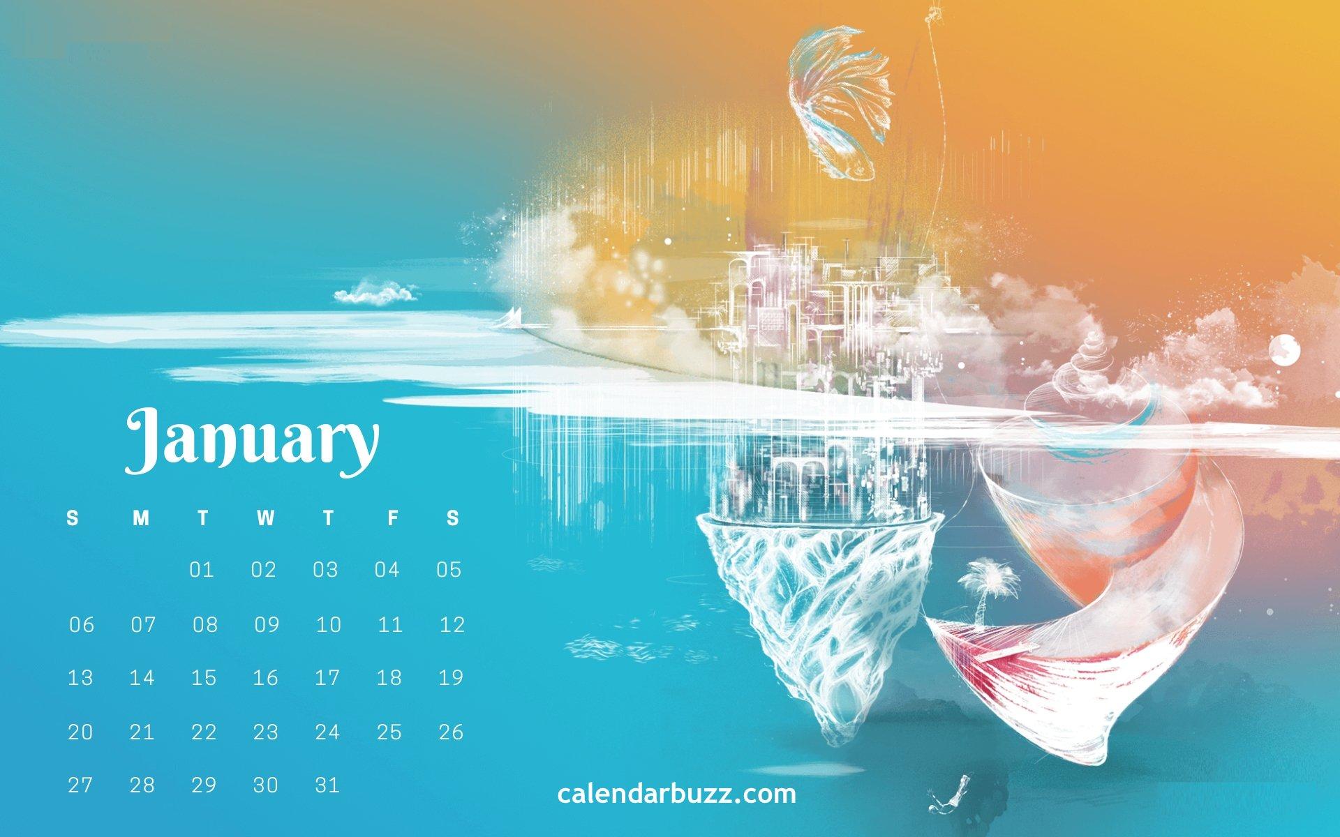 January 2019 Calendar Wallpapers Download CalendarBuzz 1920x1200