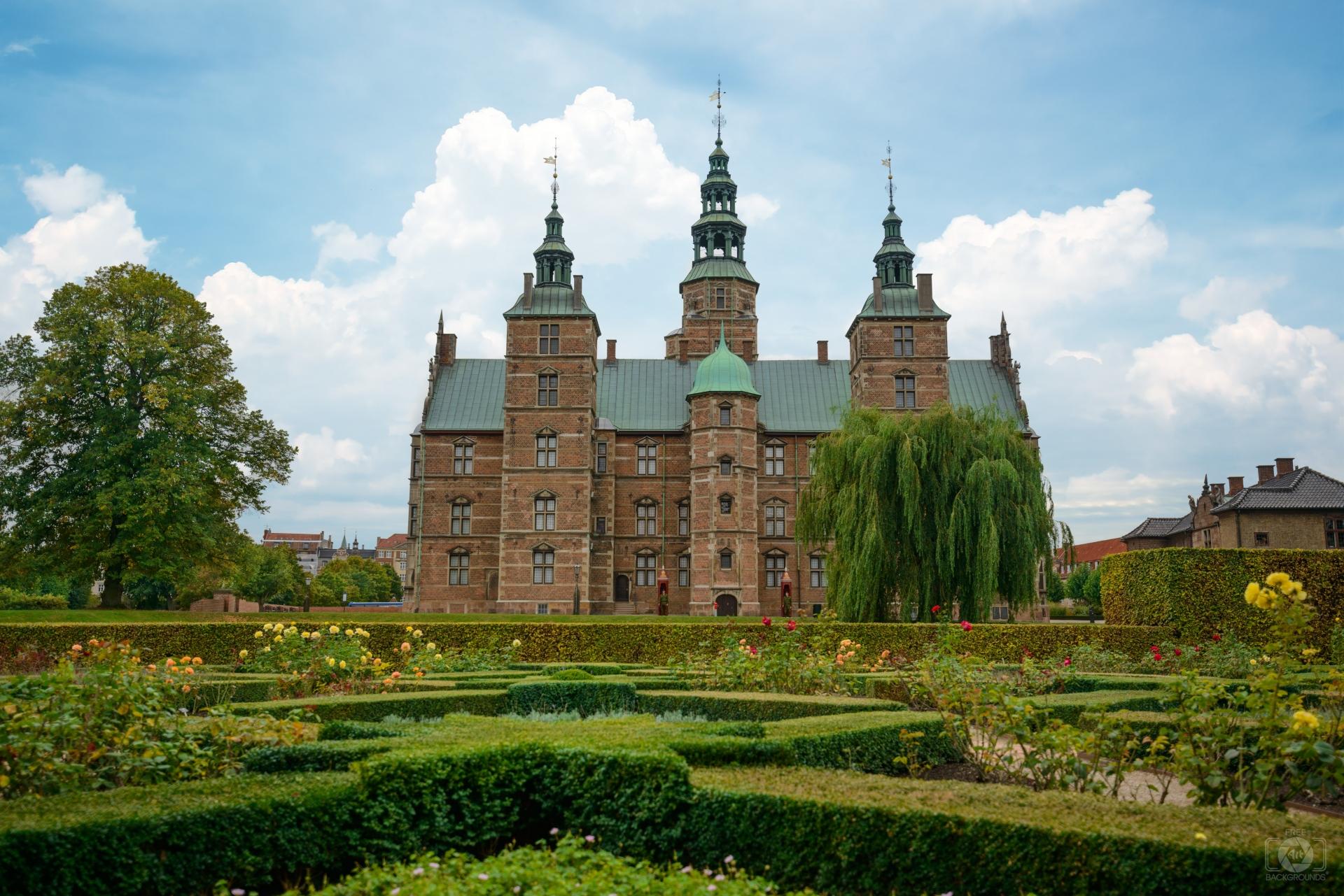 Rosenborg Castle Copenhagen Denmark Background   High quality 1920x1281