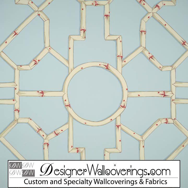 Trellis Bamboo Wallpaper Bamboo Design Wallpaper Party Invitations 720x721