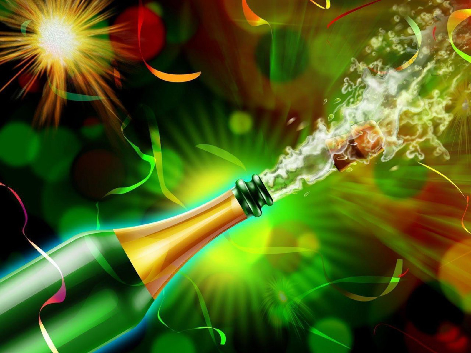 New Years Eve Celebrations computer desktop wallpapers pictures 1600x1200