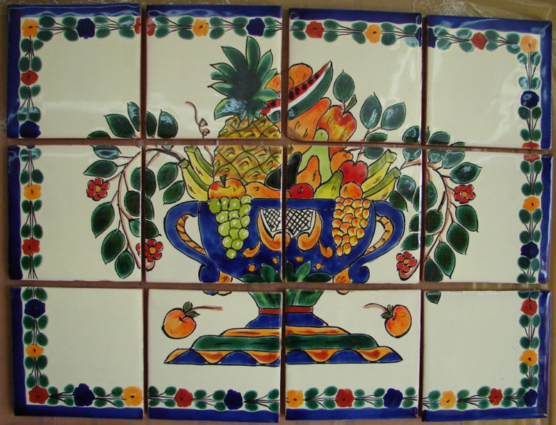 Mexican Painted Tiles Joy Studio Design Gallery   Best Design 800x612
