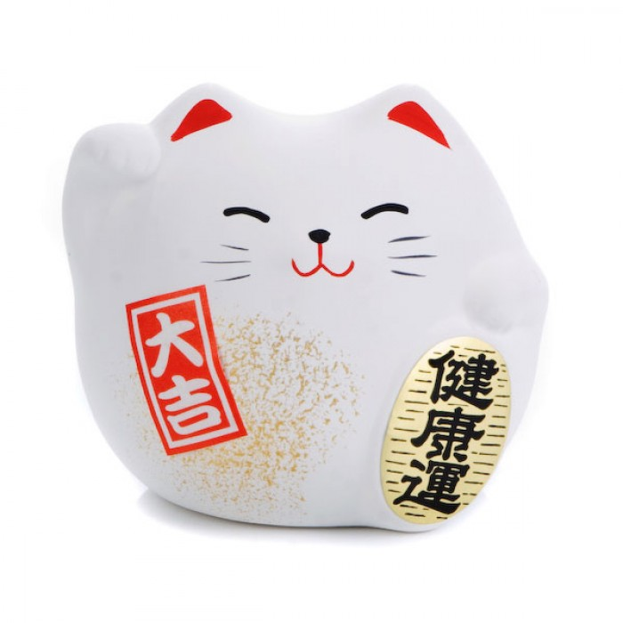 Japanese Lucky Cat On White Royalty Stock Photo Images Pictures 700x700