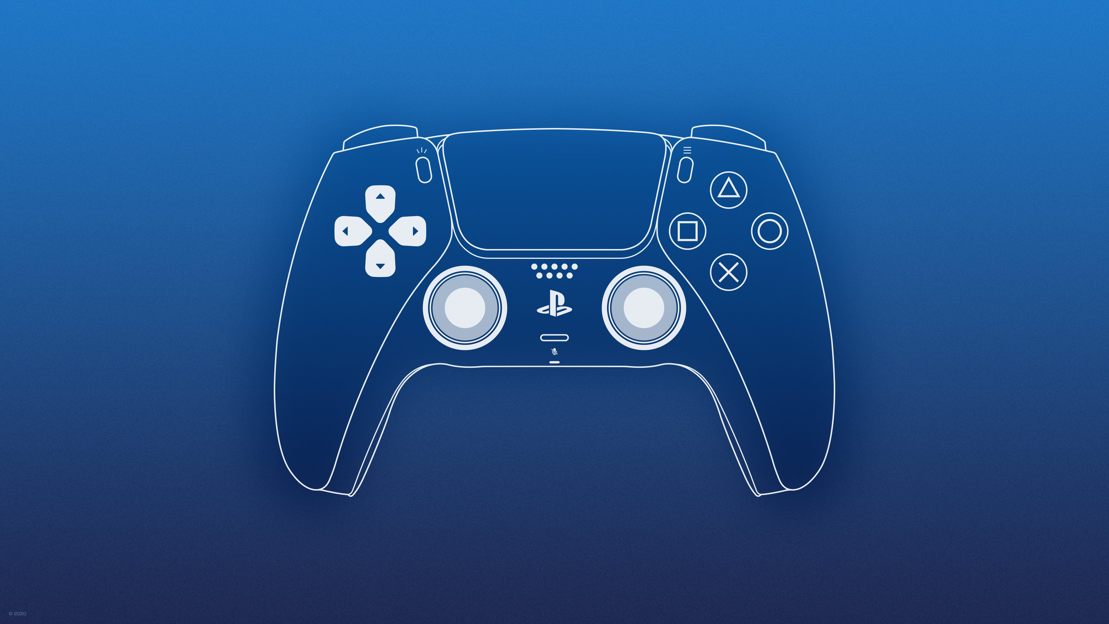 PlayStation 5 DualSense Wallpaper by ljdesigner 3840x2160