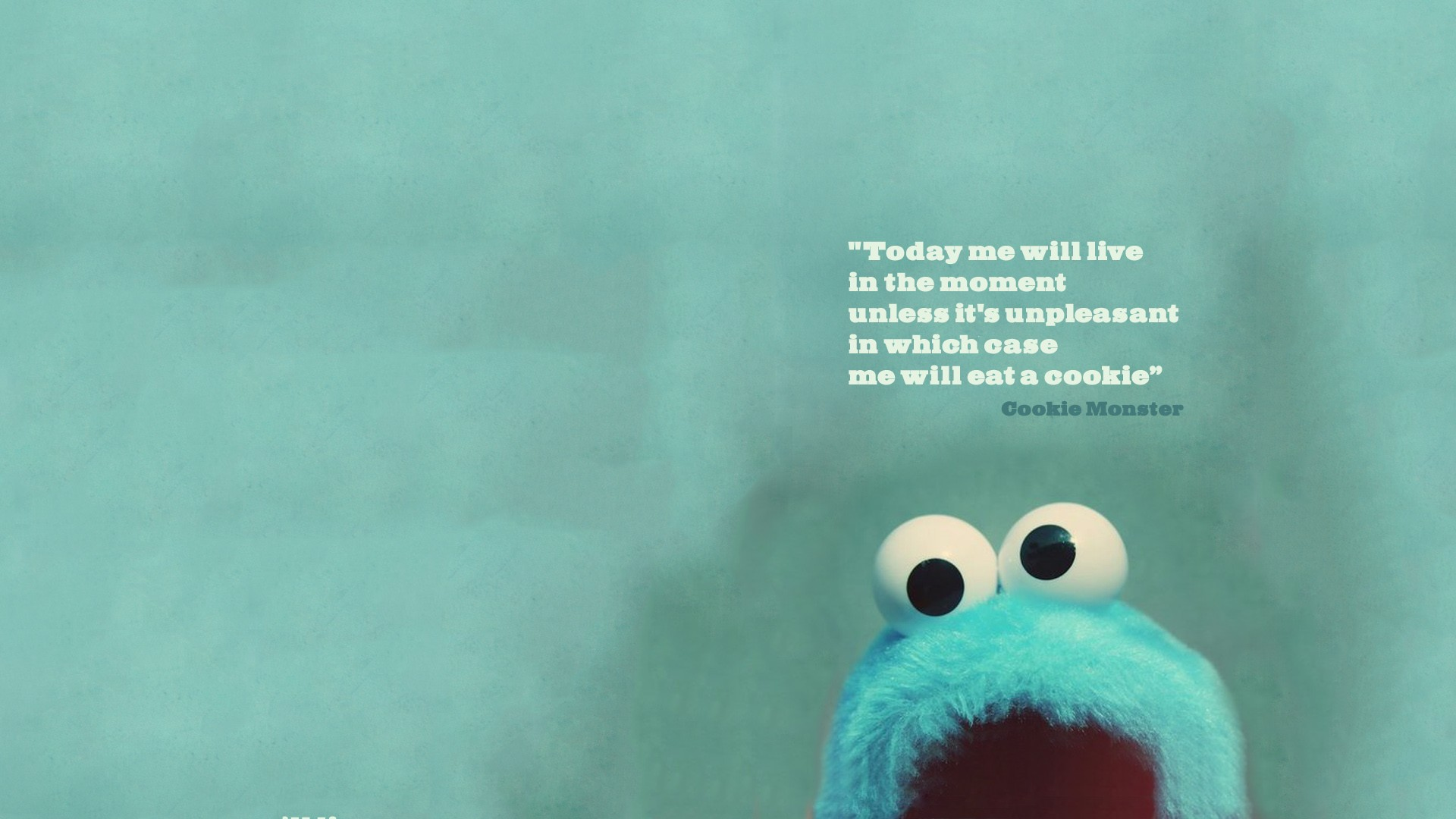 Cookie Monster Quote Wallpapers HD 1920x1080