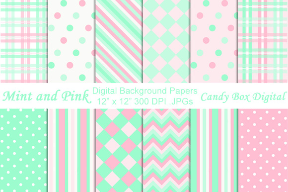 mint and pink wallpaper - photo #25