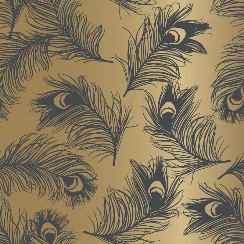 Feathers Twilight Removable Wallpaper by Tempaper 800x800